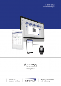 Download of the iSAC-3 access control system brochure