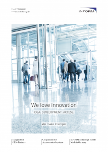 Download of the OEM access control brochure